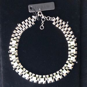 JCrew Silver and Crystal Necklace